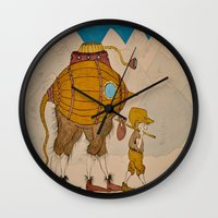 journey Wall Clocks featuring Journey by Liz Hermanson