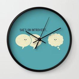 Introvert (Alt Version) Wall Clock