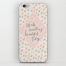 Make something beautiful iPhone & iPod Skin