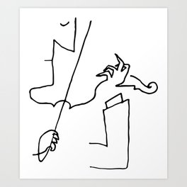 Saul Steinberg Violinist Violin Player American Cartoonist Artwork Reproduction for Prints Posters T Art Print