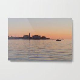 The sunset and the sea Metal Print