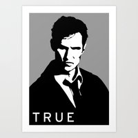 true detective Art Prints featuring True Detective by Green'n'Black