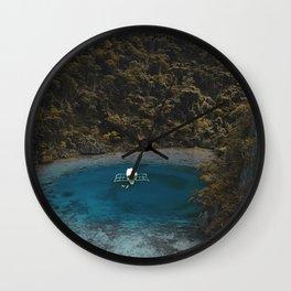 Tropical Lagoon Coron Palawan Philippines  Wall Clock