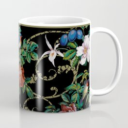 Avian Arabesque Ebony Coffee Mug