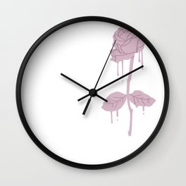Dripping Rose Wall Clock