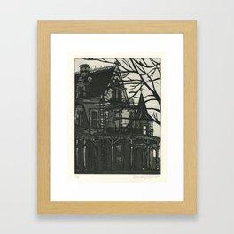 Lockwood Mathews Mansion Etching Framed Art Print