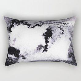 titanium white / carbon black / silver Rectangular Pillow