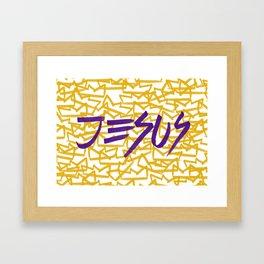 Jesus King Framed Art Print