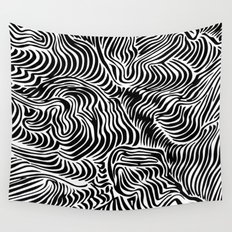 black flow Wall Tapestry