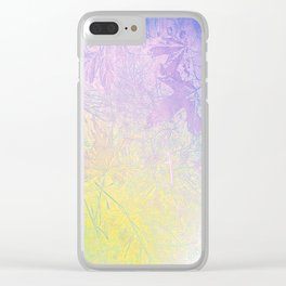 Golden Fall Watercolor Leaf Impressions Clear iPhone Case