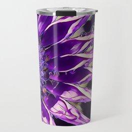African Daisy in Manipulated Purple Travel Mug