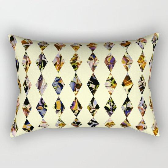luminous diamond shaped garland Rectangular Pillow