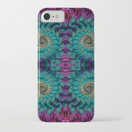 Aqua Swirl 3 iPhone Case