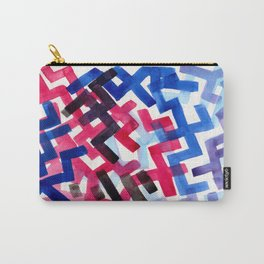 Colorful Watercolor Painting Pattern African tribal Pattern Abstract Art Mid Century Modern Carry-All Pouch