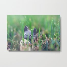 Totoro - Grass Adventures Metal Print