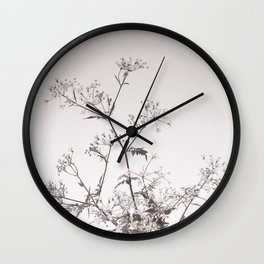 A bouquet of Cow parsley Wall Clock