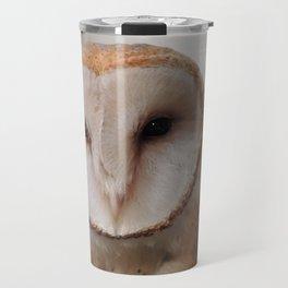 Barn Owl on Alert Travel Mug