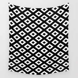BLACK AND WHITE RHOMBS Wall Tapestry