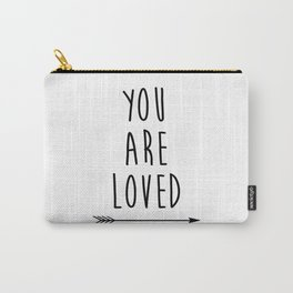 You Are Loved Printable Art, Nursery Art, Black and White Art, Arrow Art, You are So Loved Word Art, Carry-All Pouch