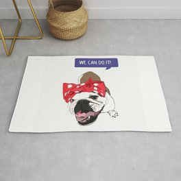 We Can Do it! Rosie the Bulldog Rug