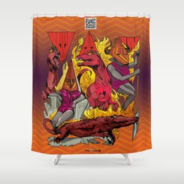 The Vulcaen Fire Tribe of The Obsidian Flame Shower Curtain