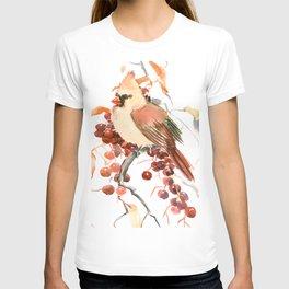 Cardinal and Berries T-shirt