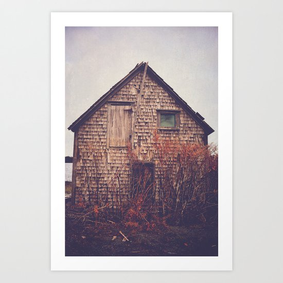 She Created Stories About Abandoned Houses Art Print