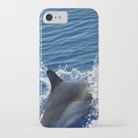 dolphins iPhone & iPod Cases featuring Dolphins by Lab&co