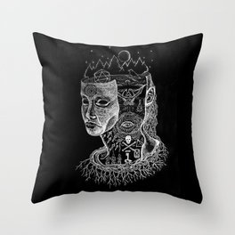Secrets of Your Skull Throw Pillow