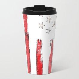 American Flag New Patriotic Grunge Travel Mug