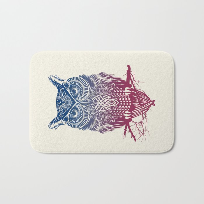 Evening Warrior Owl Bath Mat