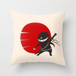 LITTLE NINJA STAR Throw Pillow