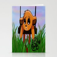 simba Stationery Cards featuring Chibi Simba by LK17