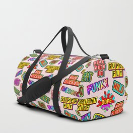 Funky pattern #08 (dope, straight fire, funky, hot, deal with it, crazy, awesome, etc) Duffle Bag