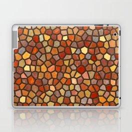 Fall Colors Mosaic Pattern - dark Laptop & iPad Skin