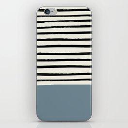 Dusty Blue x Stripes iPhone Skin