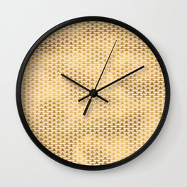 Pink Gold Foil 08 Wall Clock