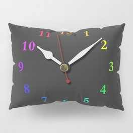 clock Chalkboard Pillow Sham