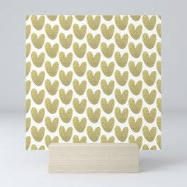 Gold Hearts Mini Art Print