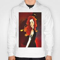 the mortal instruments Hoodies featuring Clary Fray from The Mortal Instruments by Cassandra Clare by Amitra Art