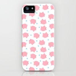 Pig Pattern   Pink Piglet Farm Farmer iPhone Case