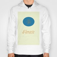 namaste Hoodies featuring Namaste by My Yoga On