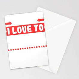 """Looking For Kicking Tee For A Kicker You Saying """"Careful I Love To Kick Balls"""" T-shirt Design Stationery Cards"""
