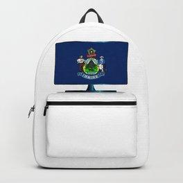 Maine Flag TV Backpack