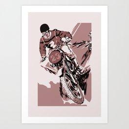 Motocross, the crosser Art Print