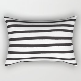 Black and white marker lines Rectangular Pillow