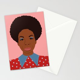 A Portrait of Nina Simone Stationery Cards