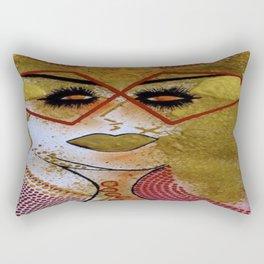 GOLDen earth Lady tetkaART Rectangular Pillow