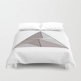 Graphic . geometric shape gray Duvet Cover