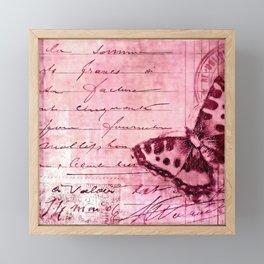 pink postage Framed Mini Art Print